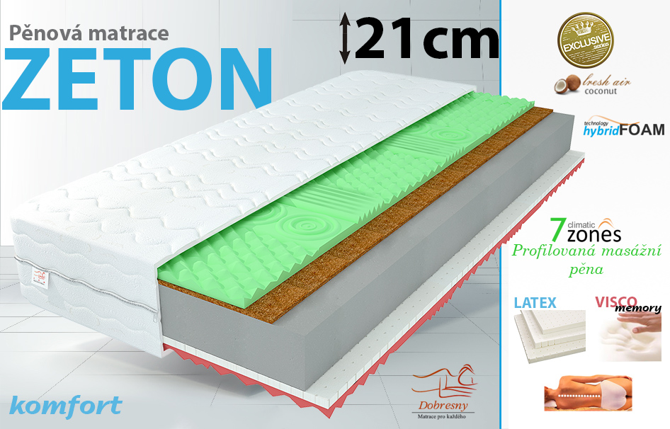 mas n visco matrace zeton 90x200 h3 h4 ostrava aukro archiv. Black Bedroom Furniture Sets. Home Design Ideas
